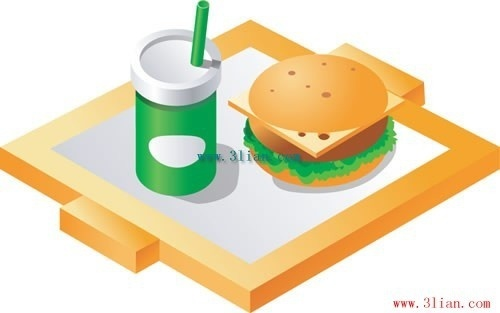 hamburger cola vector
