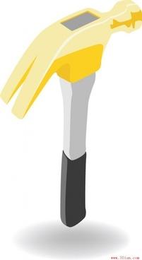 hammer tool vector