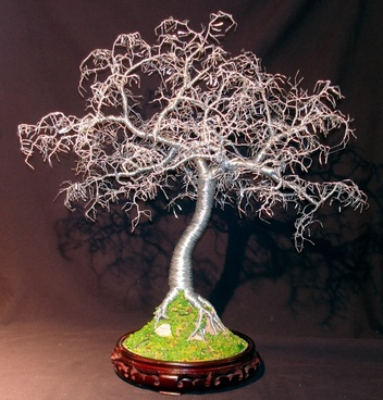 hammered leaves bonsai