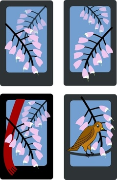 Hanafuda Fuji April clip art