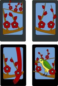 Hanafuda Ume February clip art