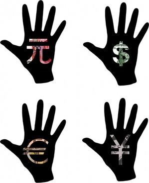 hand dollar yen