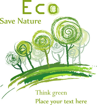 hand draw eco background