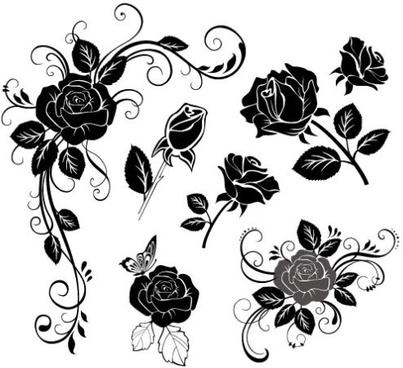 hand draw flower vector