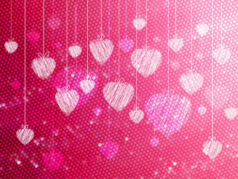 hand draw heart background