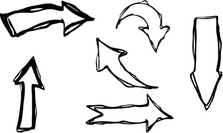 hand drawn arrows creative vector
