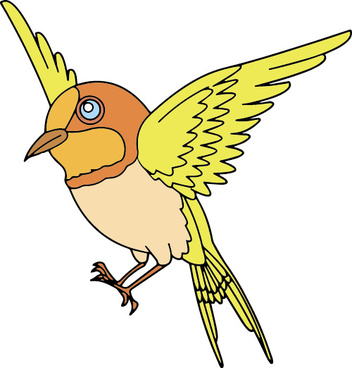hand drawn bird cartoon styles vector