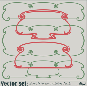 hand drawn border vector art