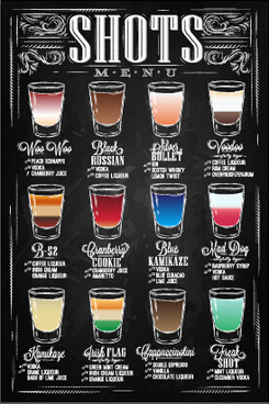 hand drawn chalkboard drinks menu vector