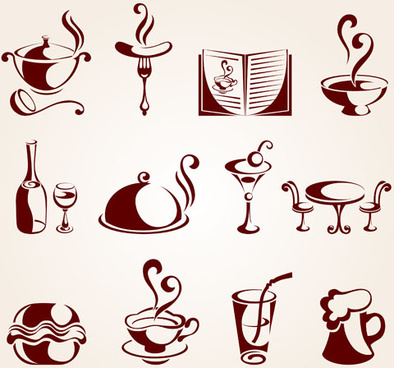 hand drawn chocolate logos vector