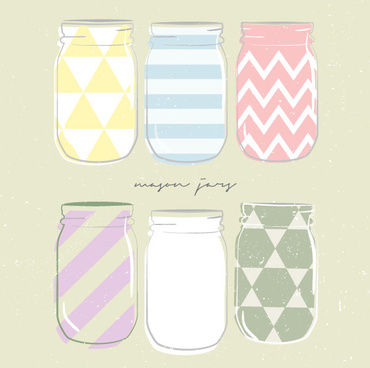 hand drawn cute bottle vector
