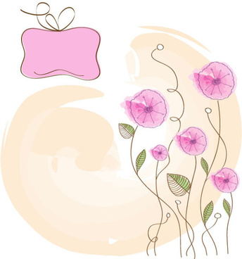hand drawn cute flowers vector