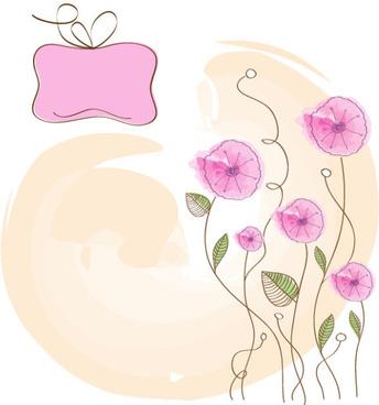 hand drawn cute flowers vector