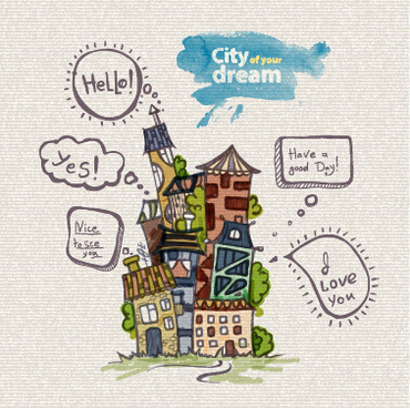 Dream city free vector download (2,181 Free vector) for