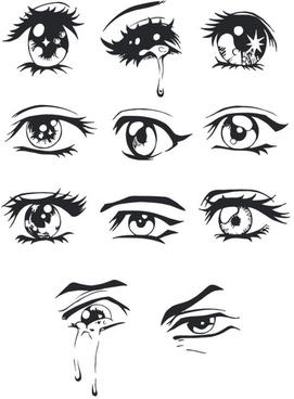 hand drawn eye vector
