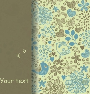 hand drawn floral pattern background vector