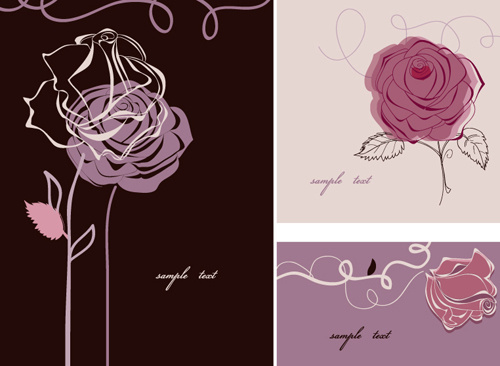 hand drawn flower of stylish card vector