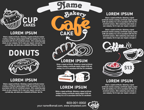 hand drawn food template vector