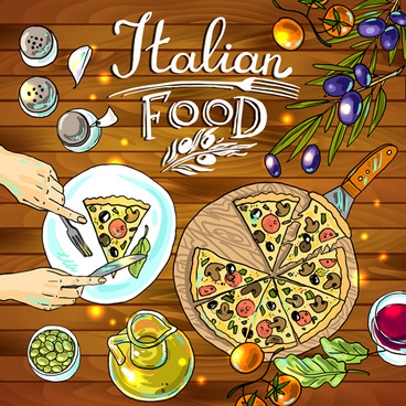 hand drawn food vintage background art