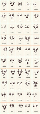 hand drawn funny expressions vector icons