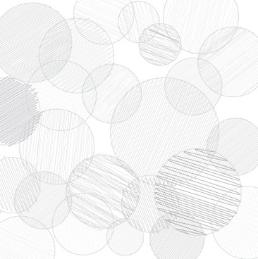 hand drawn round vector background