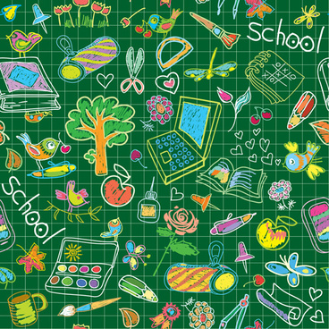 hand drawn school elements vector