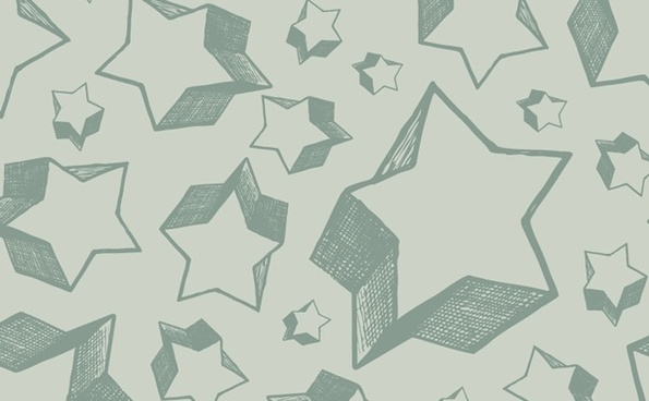 stars background 3d hand drawn style sketch