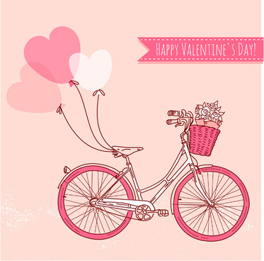 hand drawn valentine decoration vector illustration