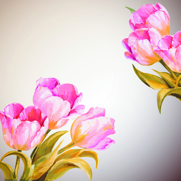 hand drawn watercolor flower background