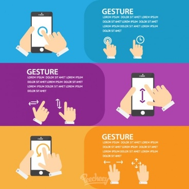 hand gestures for touchscreen mobile devices