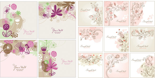 hand painted decorative pattern background