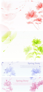 hand painted floral background vector graphic