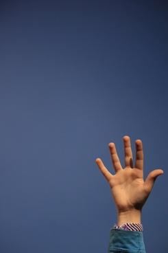 hand sky child