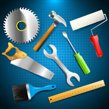 hand tools vector backgrounds