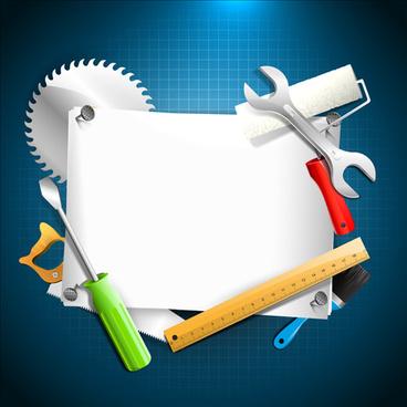 hand tools vector backgrounds