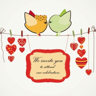 handdrawn illustration love birds 02 vector