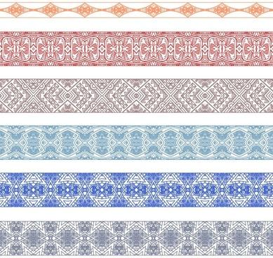 handdrawn lines pattern 02 vector