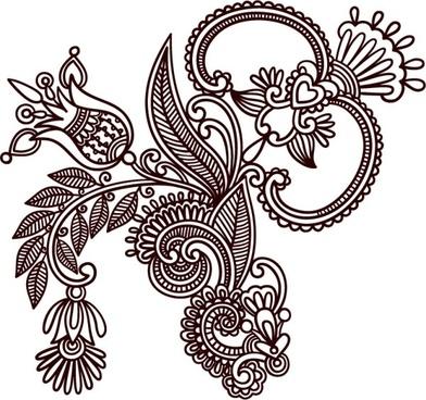 handdrawn patterns 03 vector