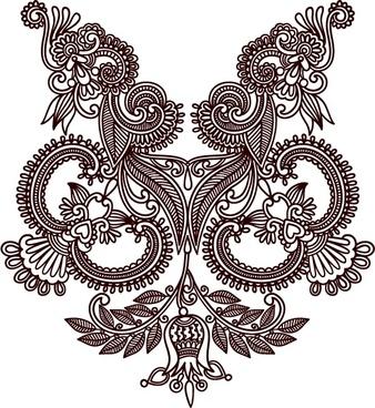 handdrawn patterns 04 vector