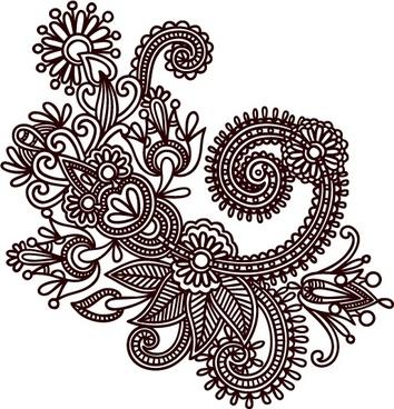 handdrawn patterns 05 vector