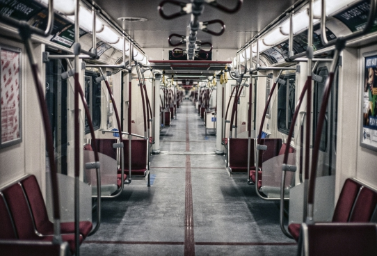empty seats on metro