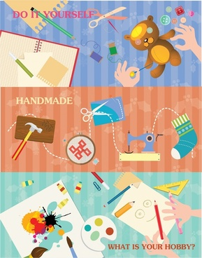 handmade concepts vector illustration with various styles