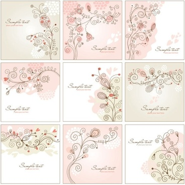 handpainted background pattern 01 vector