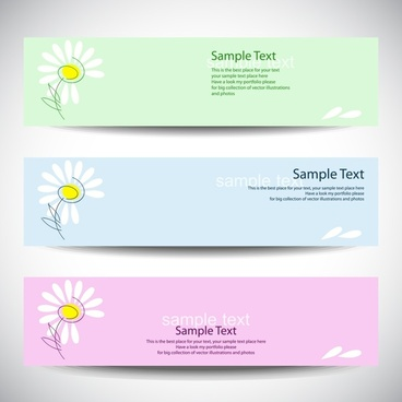decorative banner templates floral decor modern horizontal design