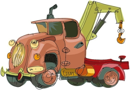 handpainted cartoon car 04 vector
