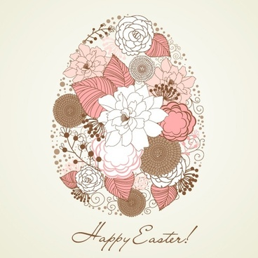 handpainted easter pattern 04 vector