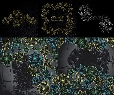 handpainted fashion pattern vector
