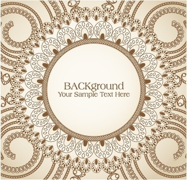 decorative background elegant retro european circle curves design