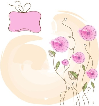 handpainted flowers background 01 vector