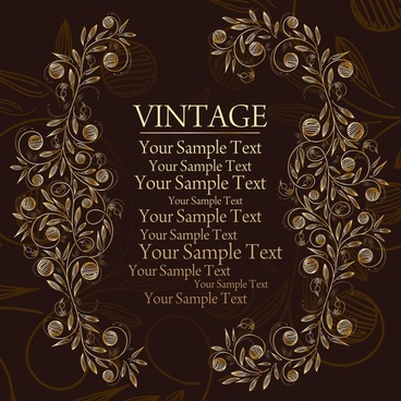 vintage background flowers decor symmetric handdrawn design